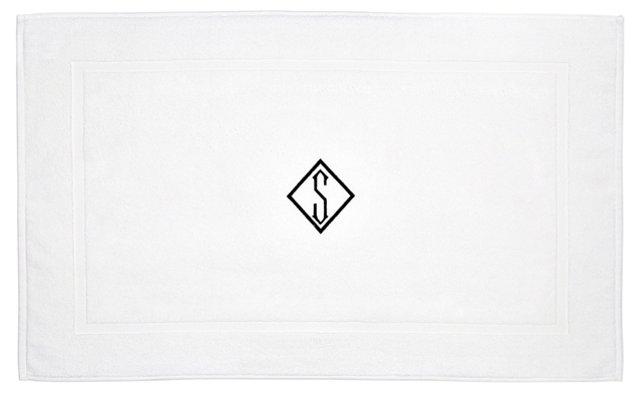 Diamond Monogram Bath Mat, Black