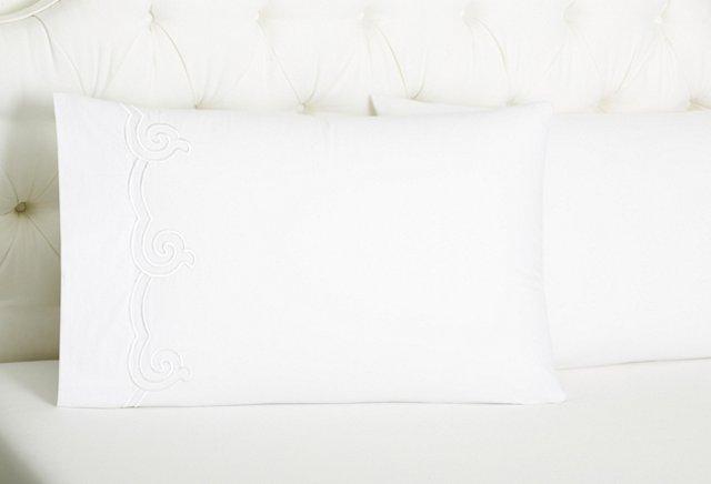 S/2 Kg Serenity Pillowcases, White