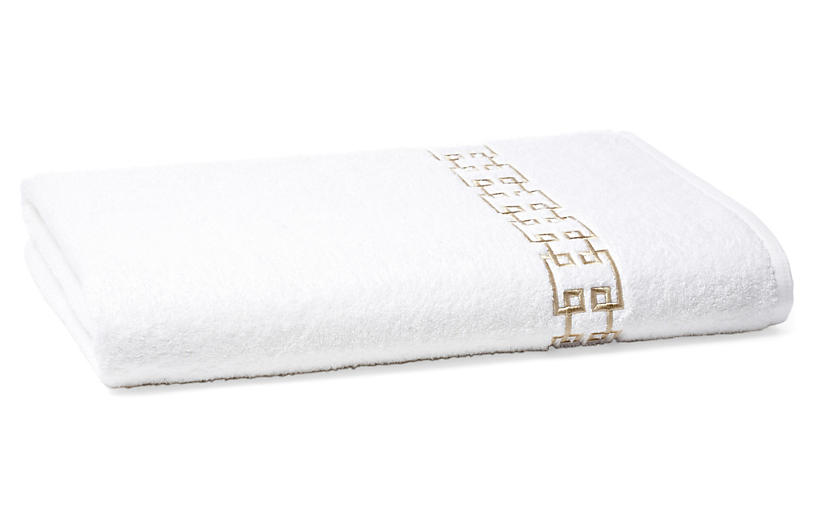 Fretwork Bath Sheet, Seashell