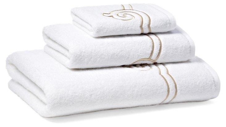3-Pc Serenity Towel Set, Seashell