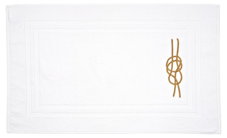 Nautical Knot Bath Mat, Golden Tan