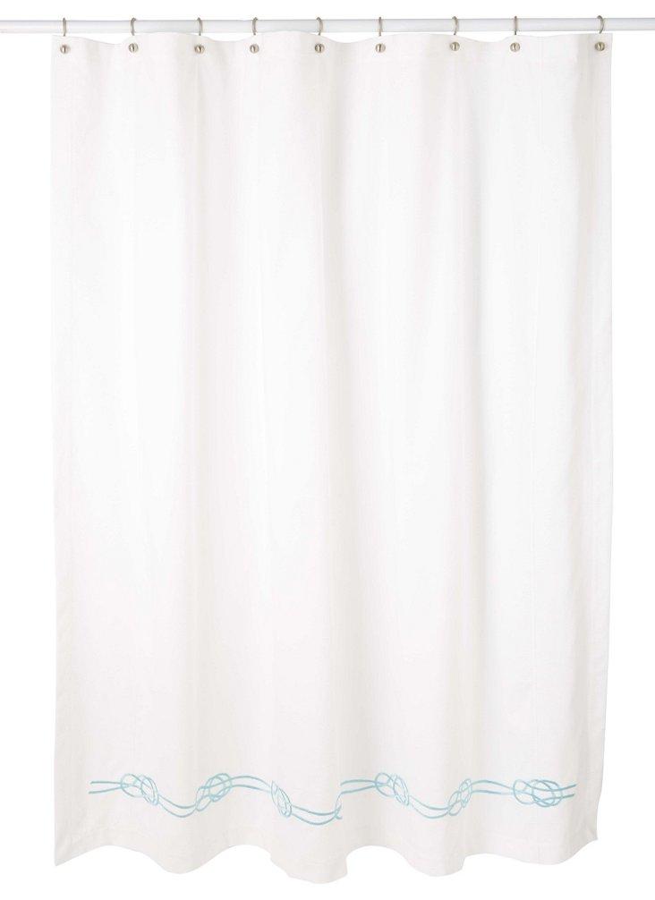 Nautical Knot Shower Curtain, Cadet Blue