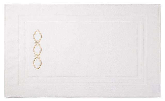 Roman Key Bath Mat, Ivory/Seashell