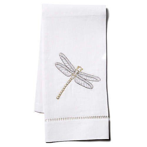 Dragonfly Linen Guest Towel