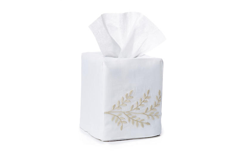 Willow Tissue Box Cover, Beige
