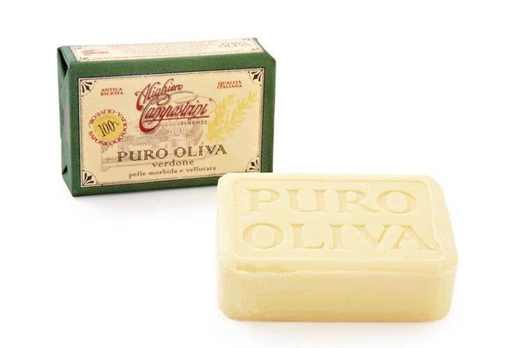 S/2 Pure Olive-Oil Soaps, Verdone