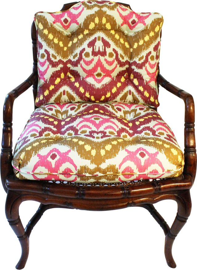 Bamboo-Style Cane Chair