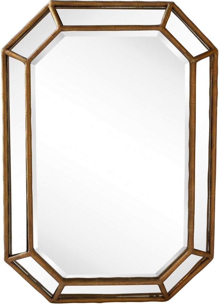 Gold Bamboo-Style Mirror