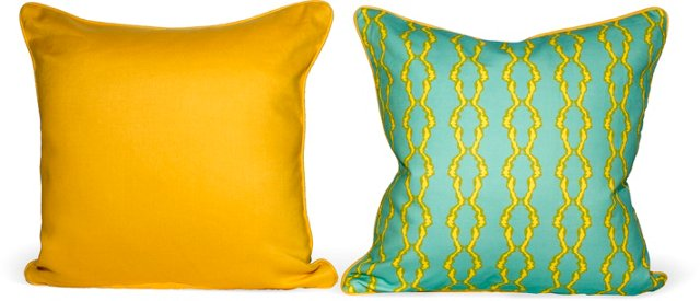 Link Linen Pillows, Pair