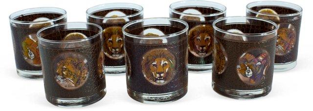 Safari Glasses, Set of 7