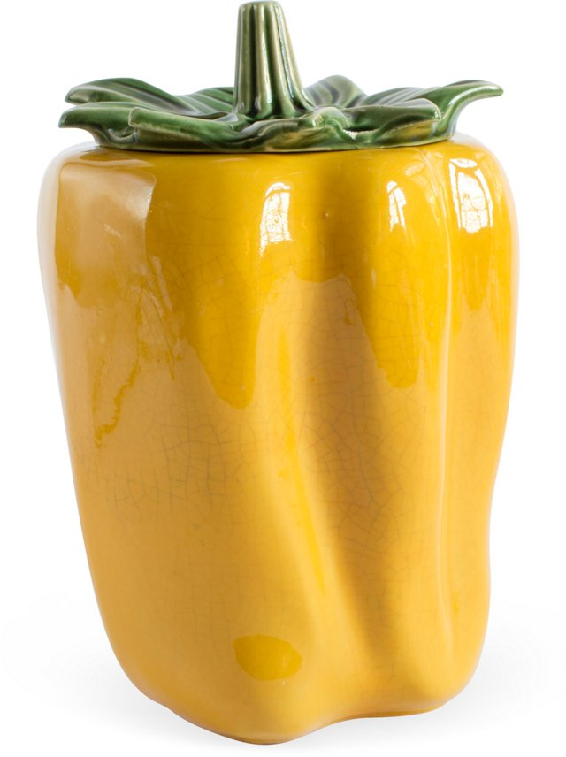 Vintage Yellow Pepper Cookie Jar
