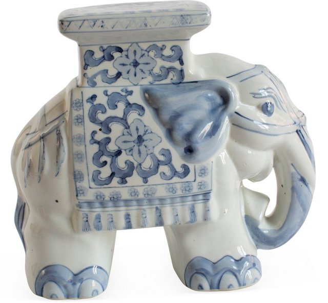 Blue & White Elephant Stand