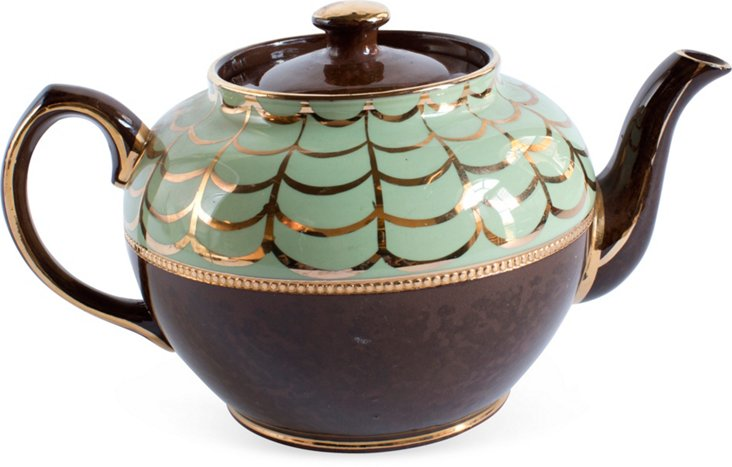 Gold Painted Teapot