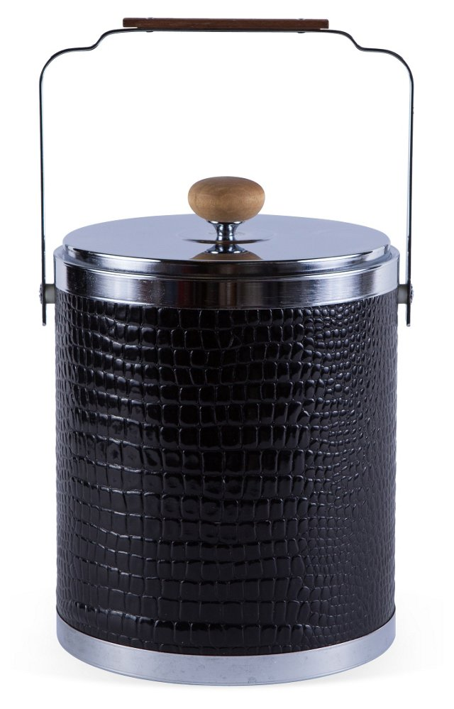 Black Crocodile Ice Bucket