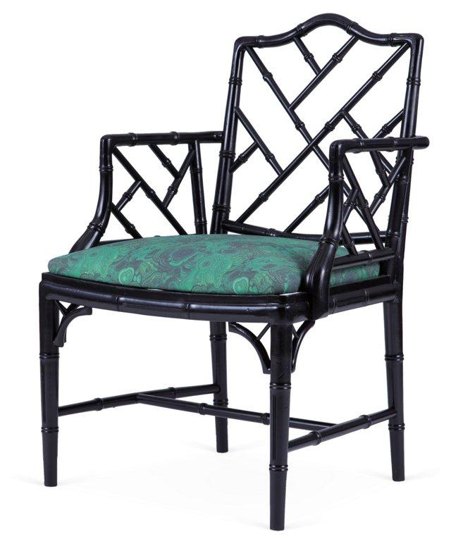 Malachite Chippendale Chair