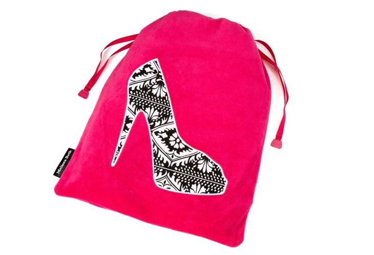 Shoe Bag, Hot Pink