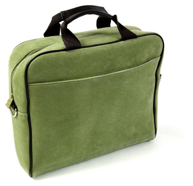 "15"" Slim Laptop Tote, Green"