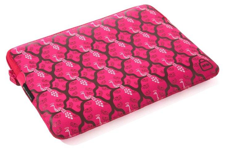 """15"""" Printed Laptop Sleeve, Pink Peacock"""