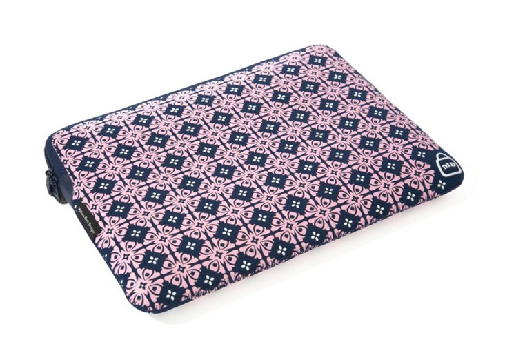 "10"" Printed iPad Sleeve, Navy/Pink"