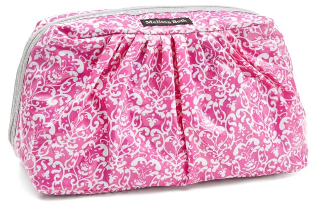 Pretty Pleats Cosmetic Case, Pink