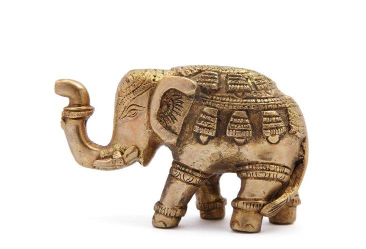 "2"" Brass Kneeling Elephant"