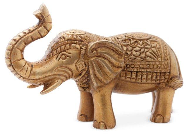 """3"""" Brass Elephant Figurine"""