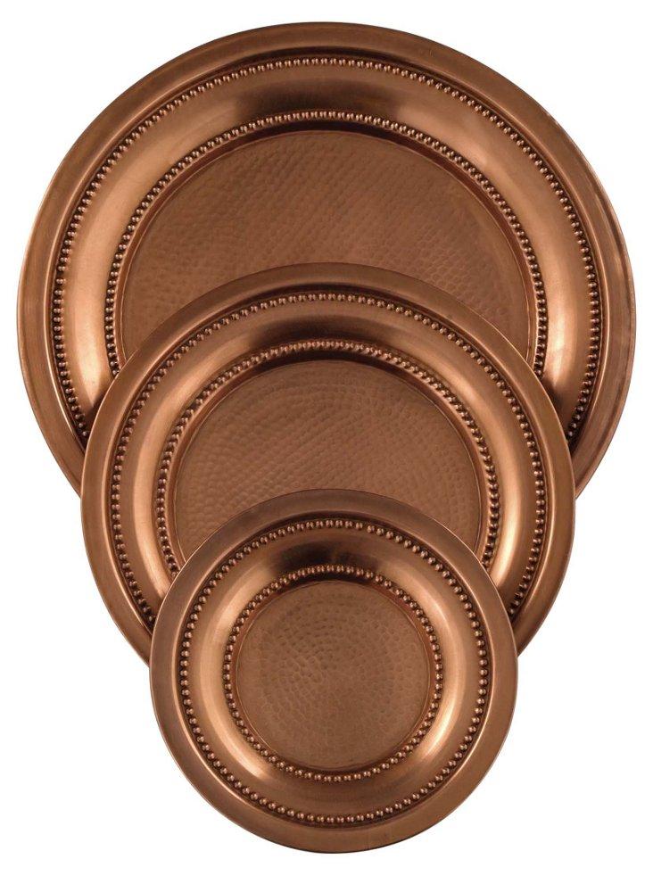 S/3 Copper Trays