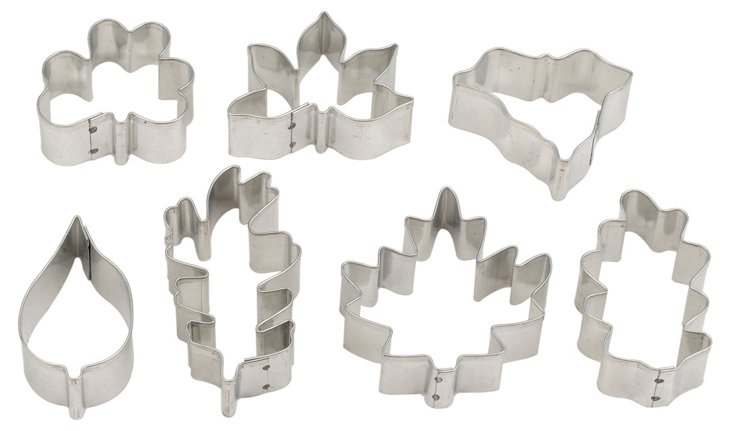 S/14 Assorted Leaf Cookie Cutters