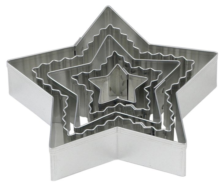 S/10 Crinkle Star Cookie Cutters