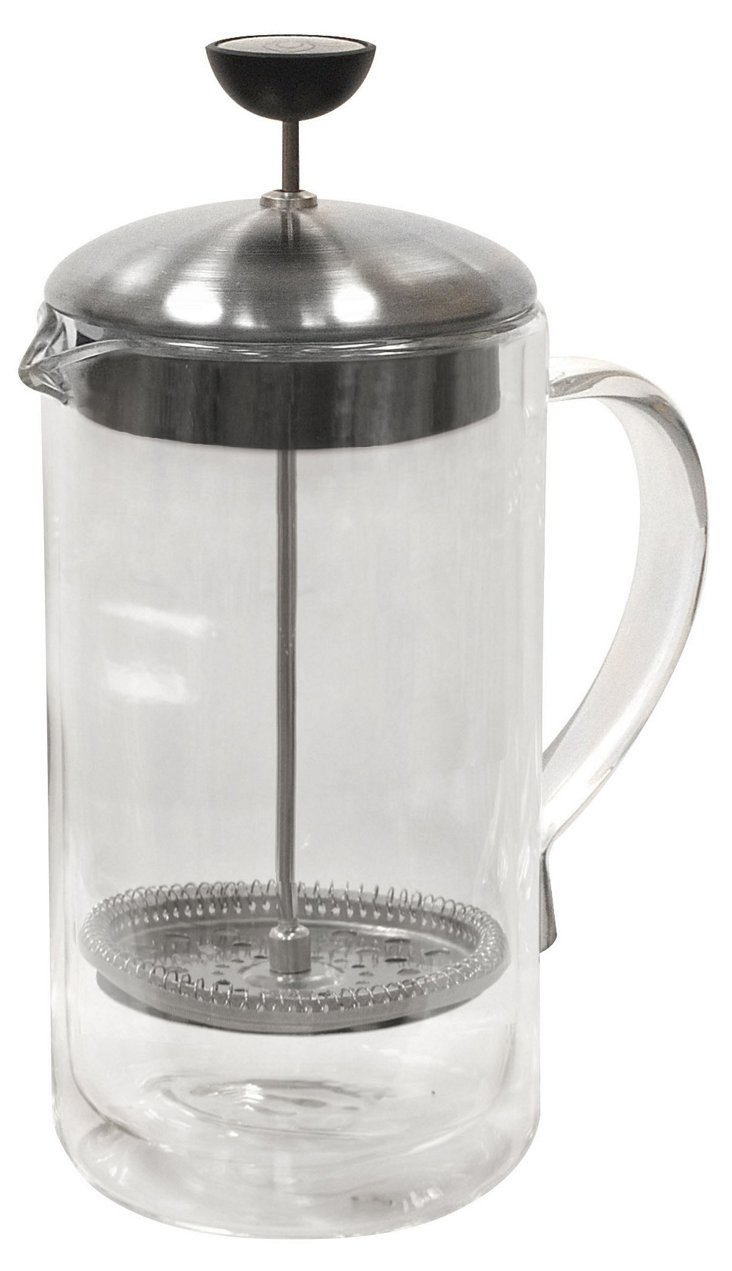8-Cup Double-Wall Glass Coffee Press