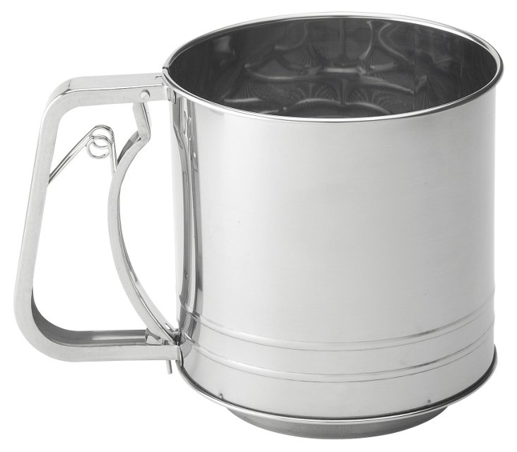 5-Cup Stainless Sifter w/ Squeeze Handle