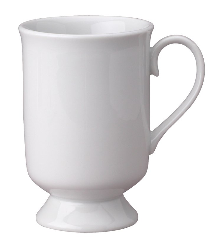 S/2 Porcelain Pedestal Mugs