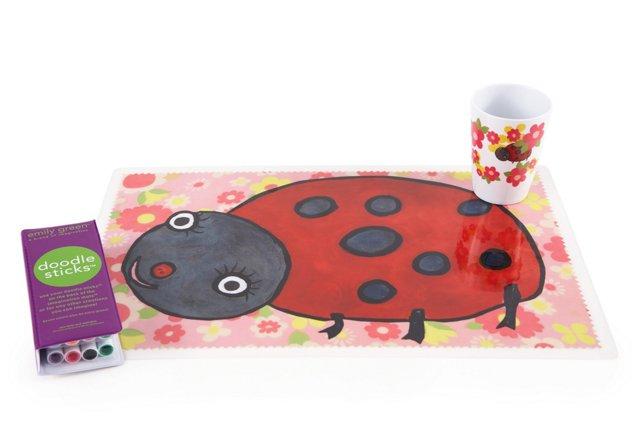 Ladybug Tumbler & Mat Set