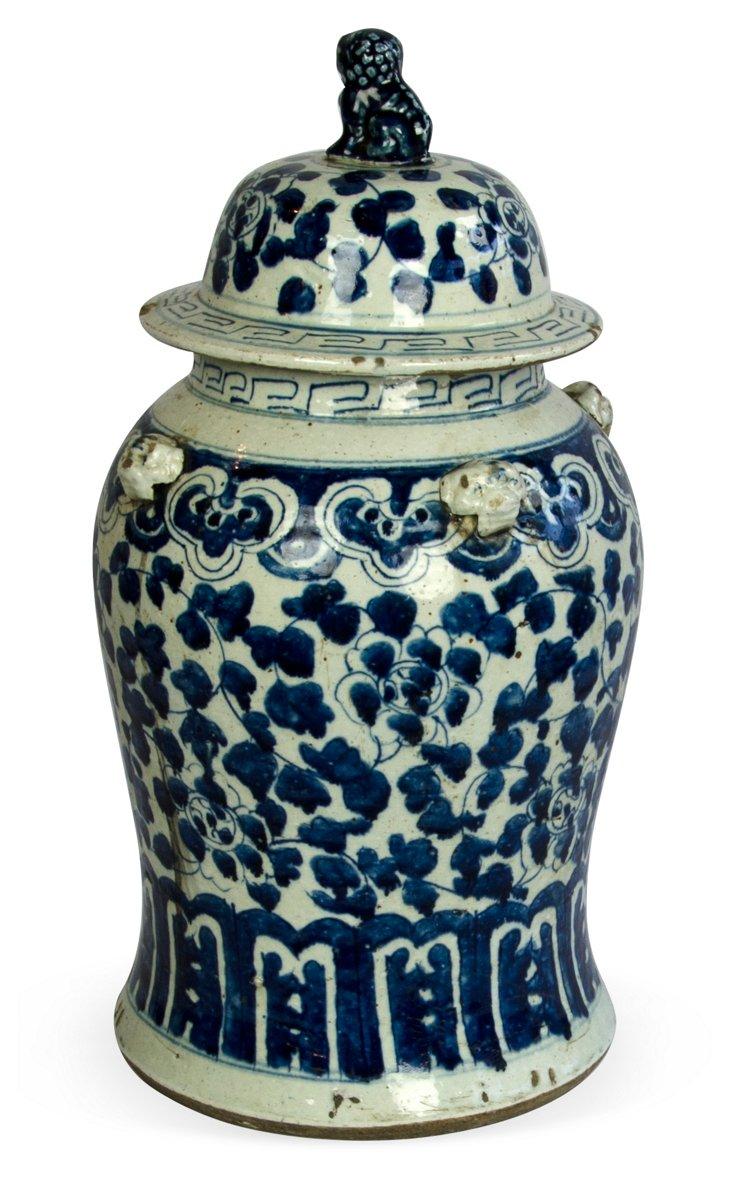 Lidded Baluster Ceramic Vase