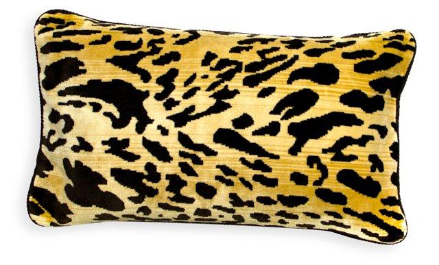 Silk & Velvet Tiger-Print Pillow