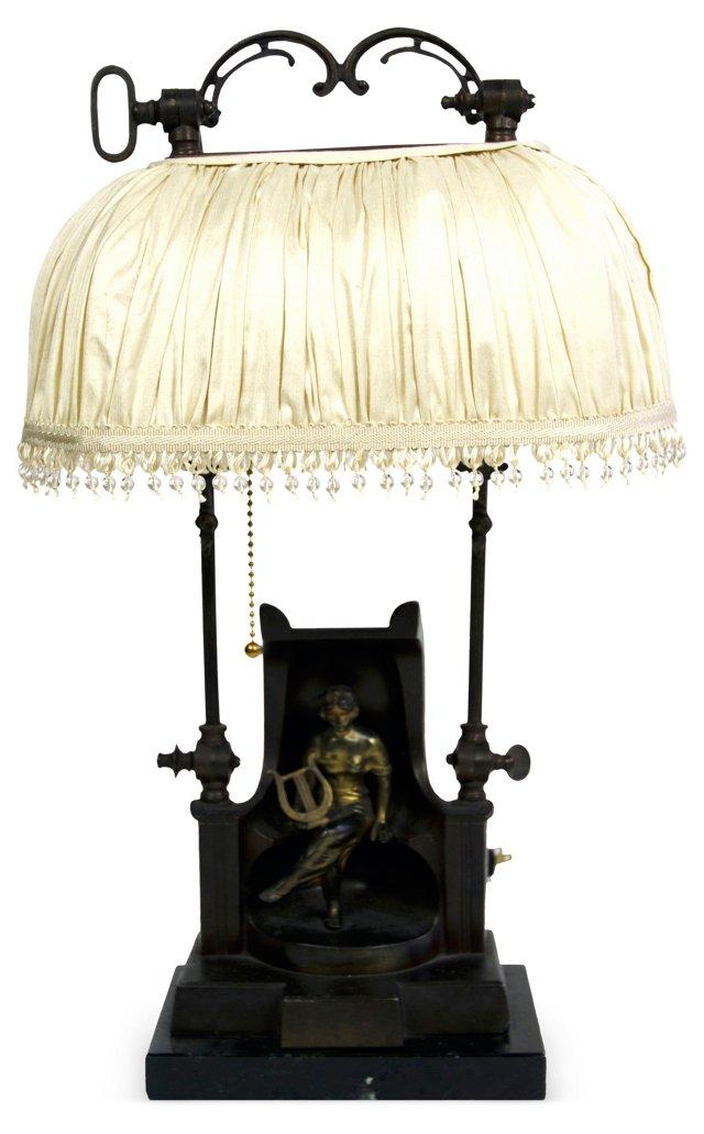 Vintage Bronze Figural Lamp