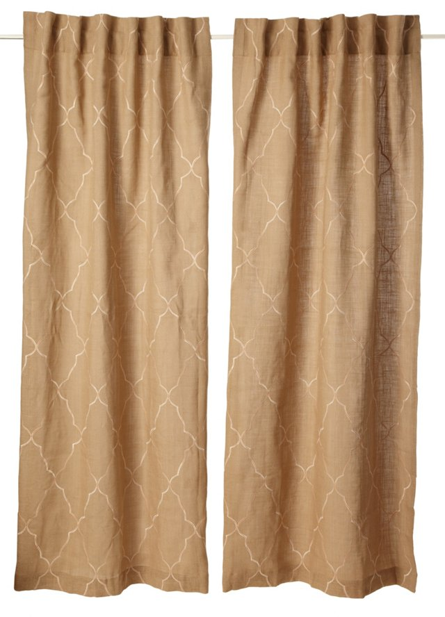 Set of 2 Mesmerize Curtains, Fall Leaf