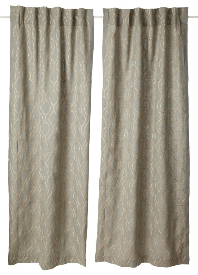 Set of 2 Illuminate Curtains, Blue