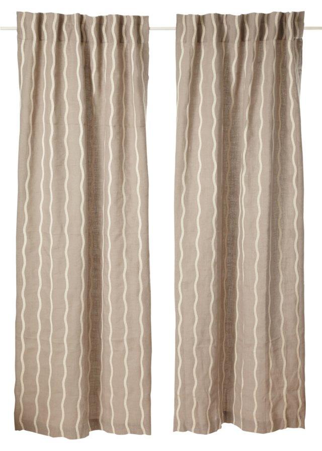 Set of 2 Infinate Curtains, Mist