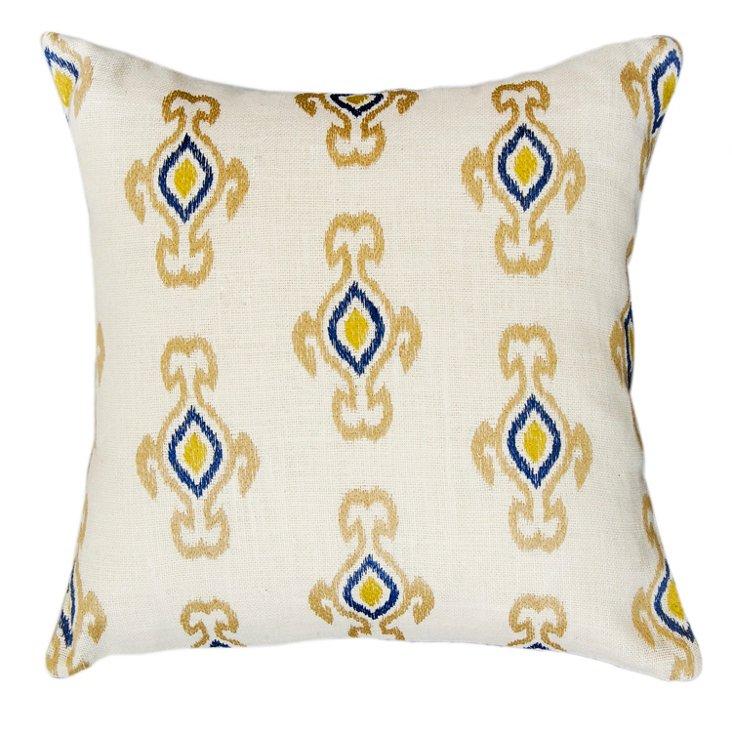 Caravan 20x20 Jute Pillow, White