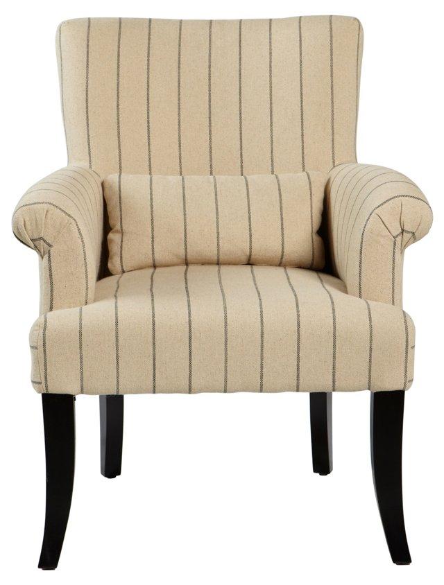 Campbell Pinstripe Club Chair