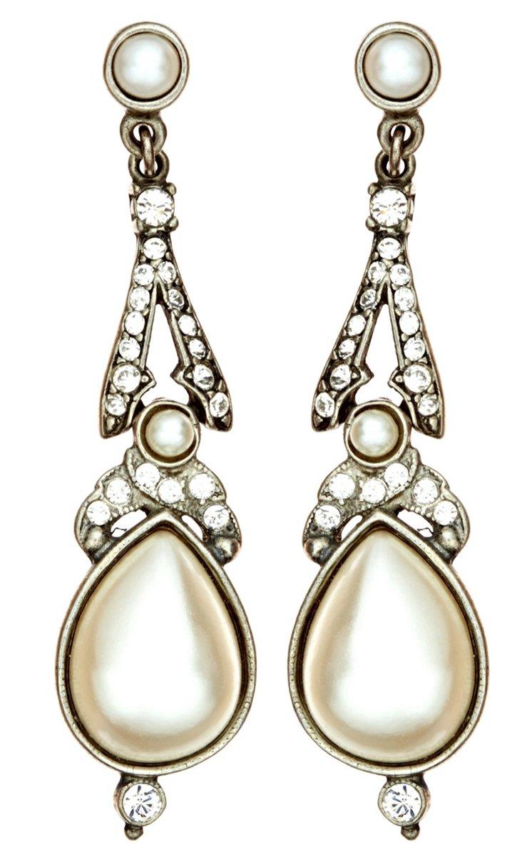 Czech Glass Pearl & Crystal Earrings