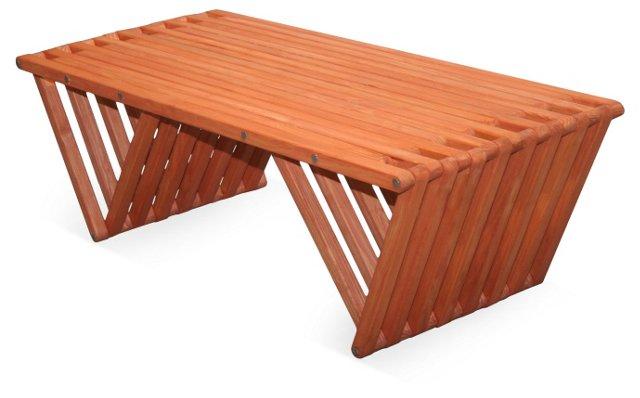Hingham Coffee Table, Orange
