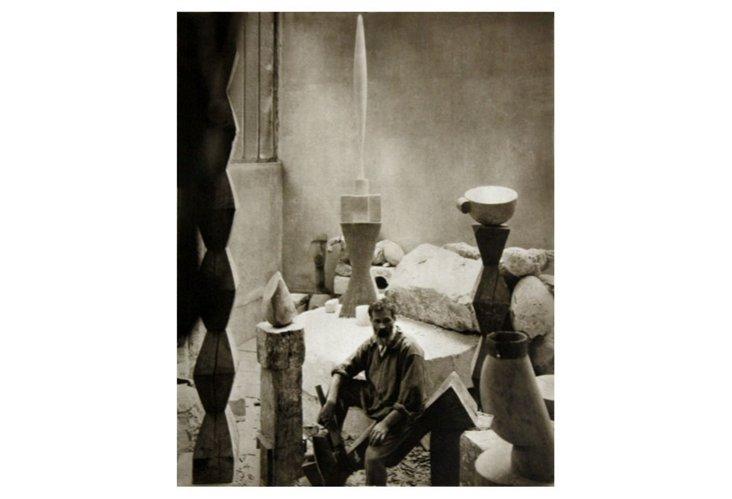 Steichen, Brancusi in his Studio, 1925