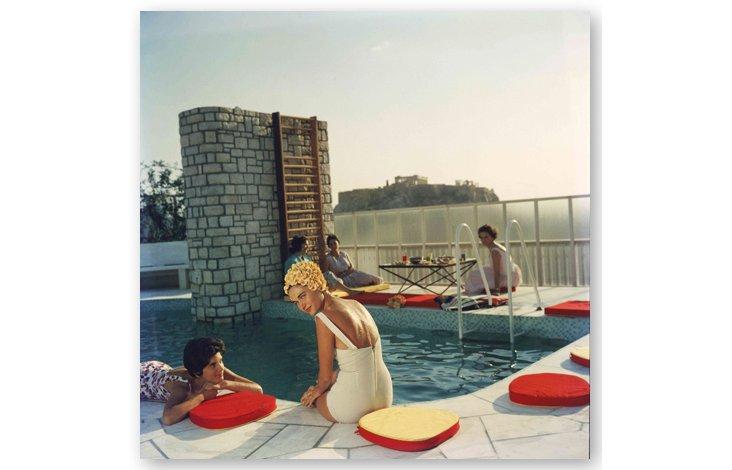Slim Aarons,  Penthouse Pool,  1961