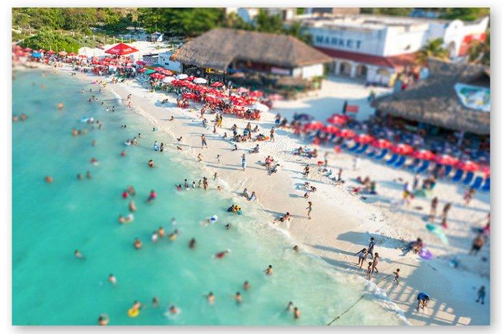 Richard Silver, Tilt Shift Cancun Beach