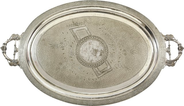 1870s Silverplate Tray