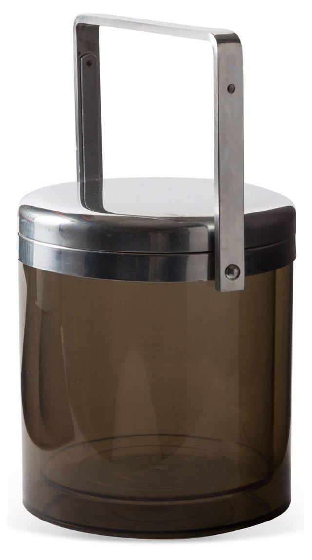 Smoke Lucite Ice Bucket