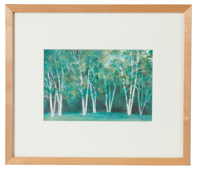 Forest Scene Serigraph by Elissa Gore