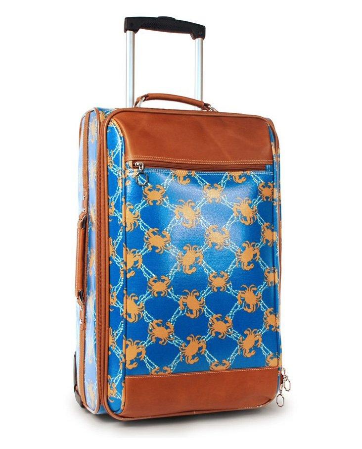 Boat Canyon Roller Suitcase, Aqua